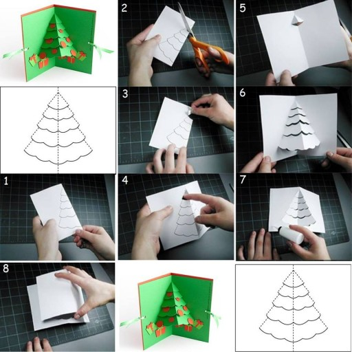 How to diy greeting card christmas tree pop up greeting card the how to make christmas cards step by step m4hsunfo