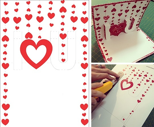 Valentine Day Pop Up Card The Pop Up Cards Greeting Cards Aoc Craft